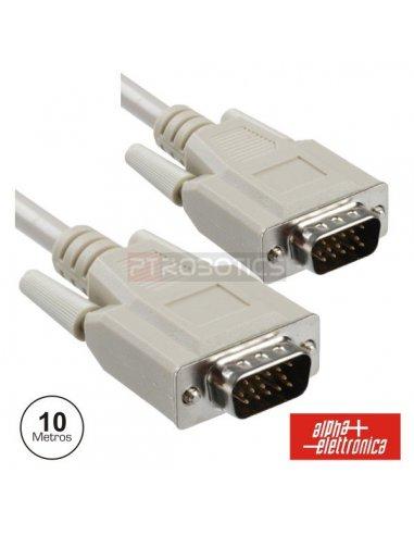 VGA 15pin Cable M-M 10mt | Cabo coaxial | Cabo av |