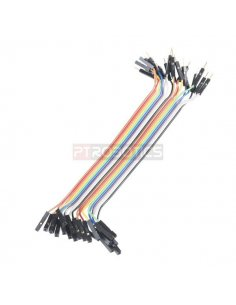 "Jumper Wires - Connected 6"" M/F Pack of 20"