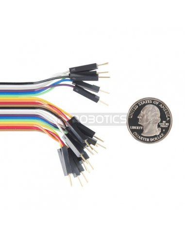 "Jumper Wires - Connected 6"" M/M Pack of 20"