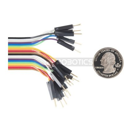 """Jumper Wires - Connected 6"""" M/M Pack of 20 Sparkfun"""