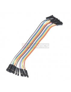 "Jumper Wires - Connected 6"" F/F Pack of 20 Sparkfun"