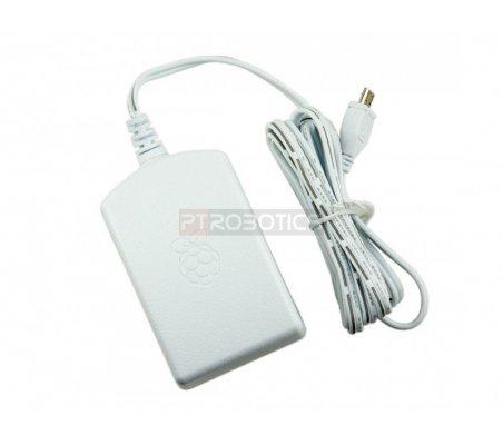 Micro USB power supply adapter 5.1V 2.5A Branco