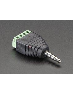 "3.5mm (1/8"") 4-Pole (TRRS) Audio Plug Terminal Block"