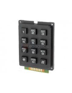 Alphanumeric Keypad 12 button Black