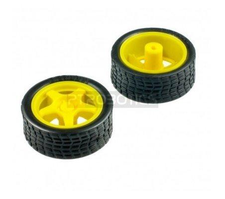 Rubber Wheel for Micro DC Geared Motor | Rodas para Robôs |