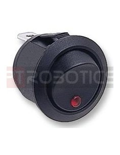 Illuminated Round Rocker Switch SPST 10A 250V