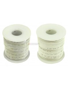 Wire Spool White 12/34AWG 3A 0.5mm - 25m