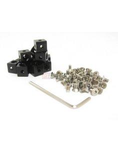 MakerBeam Corner Cube Black