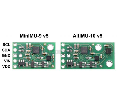 AltIMU-10 v5 Gyro, Accelerometer, Compass, and Altimeter (LSM6DS33, LIS3MDL, and LPS25H Carrier) Pololu