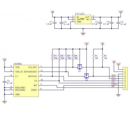 LIS3MDL 3-Axis Magnetometer Carrier with Voltage Regulator   Regulador de Voltagem   Bussolas   Pololu