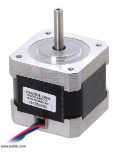 Stepper Motor: Bipolar, 200 Steps/Rev, 42×38mm, 2.8V, 1.7 A/Phase