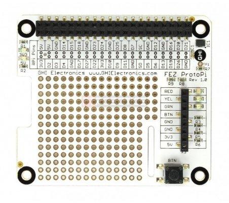 GHI Electronics FEZ ProtoPi | HAT | Placas de Expansão Raspberry Pi |