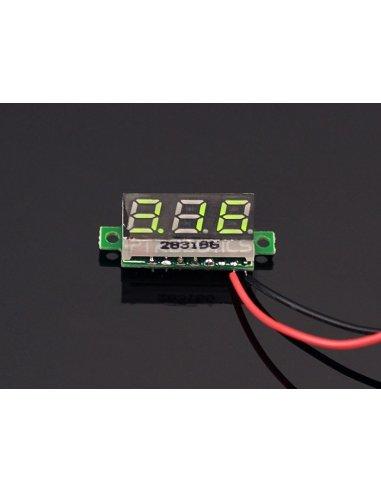 0.28 inch LED digital DC voltmeter - Verde | Medidores de Painel | Seeed