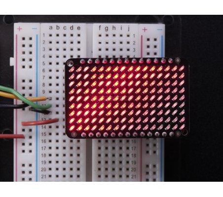 LED Charlieplexed Matrix - 9x16 LEDs - Red   Matriz de Led   Adafruit