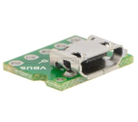 USB Micro-B Connector Breakout Board Pololu