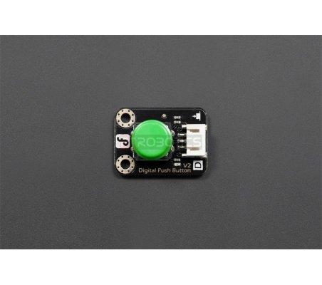 Gravity: Digital Push Button Verde | Botões e Teclados | DFRobot