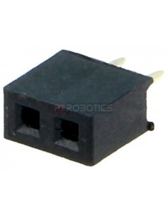 PCB Socket 2Pin 2mm Single Row