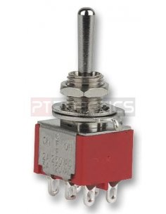 Toggle Switch DPDT - (ON)-OFF-(ON) - 250V 5A