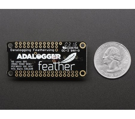 Adalogger FeatherWing - RTC + SD Add-on For All Feather Boards Adafruit