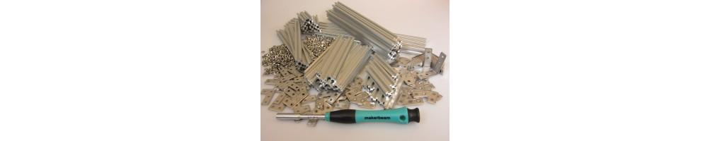 Makerbeam |Estruturas | vigas | acessórios