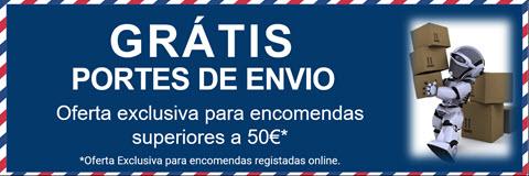 Portes Grátis - Para encomendas acima dos 50€ - Excepto Ilhas e Cobranças