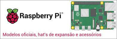 Raspberry  Pi - Modelos oficiais - Hat's - Acessórios