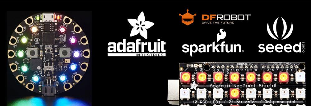 Modulos Adafruit Sparkfun DFRobot Seeed Waveshare
