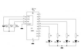 Oscilador, contador e divisor binário 4060